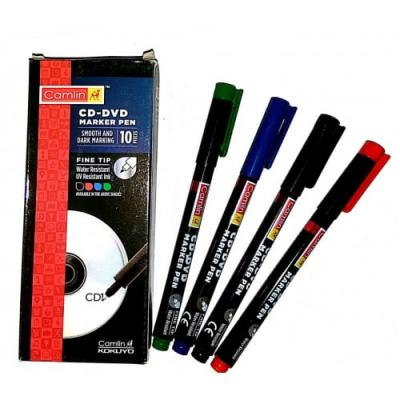 Camlin CD – DVD Marker Pen – 1 Pack of 10 (Blue)