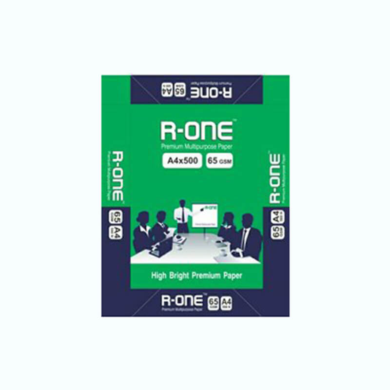 R-One Copier Paper - A4, 65 GSM , 1 Ream ( 1 ream = 500 sheets